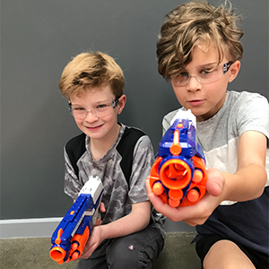Using Nerf Guns during our Kids Activity Programs